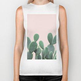 Cactus on Blush Biker Tank