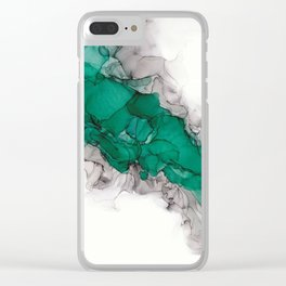 Study in Green Clear iPhone Case