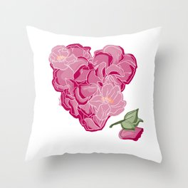 Heart of flowers Throw Pillow