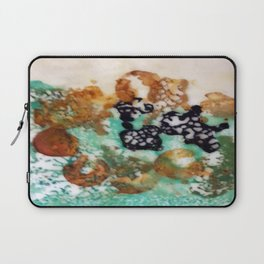 Lost Chromosome - Mixed Media Beeswax Encaustic Abstract Modern Art, 2015 Laptop Sleeve
