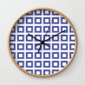 Blue and White Lines Geometric Abstract Pattern by saundramyles