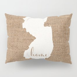 New Jersey is Home - White on Burlap Pillow Sham