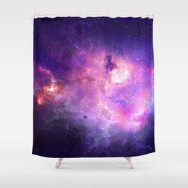 Purple space Shower Curtain