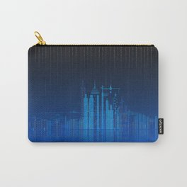 Sky Lines City Lake by Night Carry-All Pouch