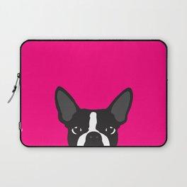 Boston Terrier Hot Pink Laptop Sleeve