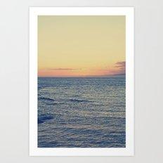 Sunset Over Ocean Art Print