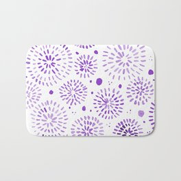 Abstract watercolor sparkles – ultra violet Bath Mat