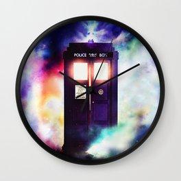 Tardis in Cloud  Wall Clock