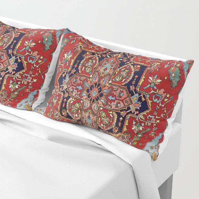 Heriz  Antique Persian Rug Print Pillow Sham