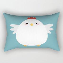 White Chicken Rectangular Pillow