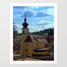 The village church of Helfenberg IV | architectural photography Art Print