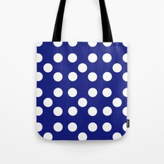 Dots - Blue / White Tote Bag