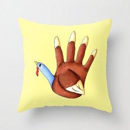 1st Turkey Throw Pillow
