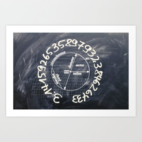 pi-black and white Art Print