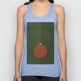 Christmas Globe - Illustration in Green and Orange Unisex Tank Top