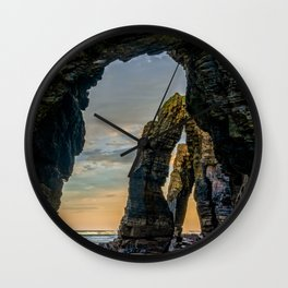 The Arches at Cathedral Beach Wall Clock