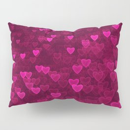 Valentine's Day | Romantic Crimson Galaxy | Universe of pink purple hearts Pillow Sham