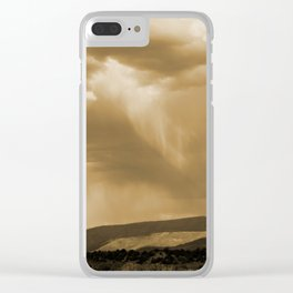 Rain's Coming in Sepia Clear iPhone Case
