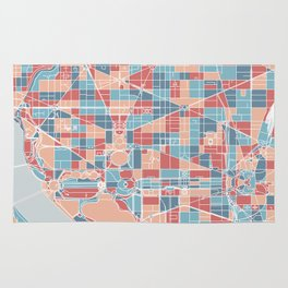 Washington DC map Rug