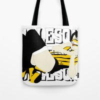 burlesque Tote Bags featuring BURLESQUE by zzglam