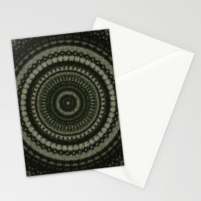 Fractal Kaleido Study 005 in CMR Stationery Cards