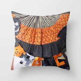 Halloween Swag Throw Pillow