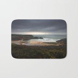 Storm over Three Cliffs Bay Gower Bath Mat