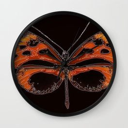 Untitled Butterfly 2 Wall Clock
