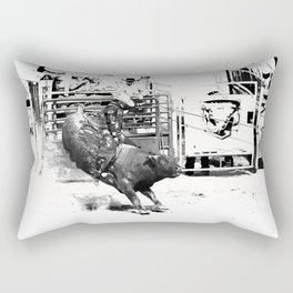 Rodeo Bull Riding Champ Rectangular Pillow