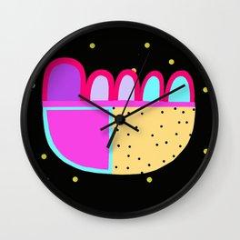 Winter Spotty Pattern Wall Clock