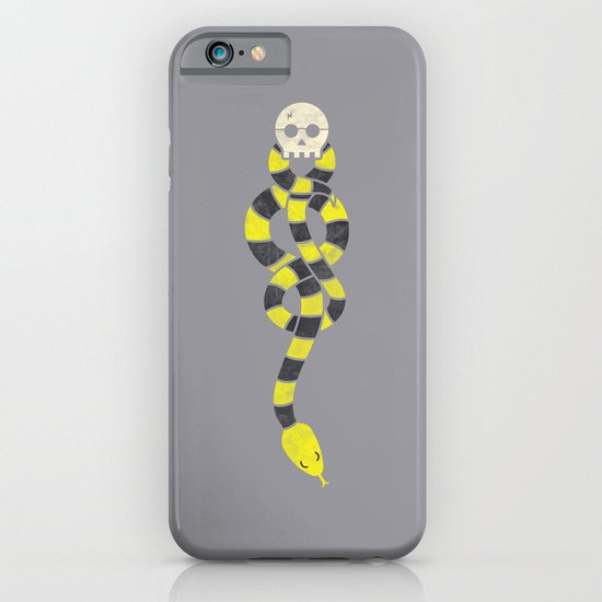 The Scarf Mark - Yellow and Grey iPhone & iPod Case