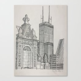 Chicago - Wrigley and Willis Canvas Print