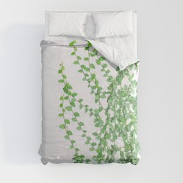 Green creepers climbing the wall Comforters