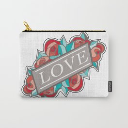 Love & Roses Carry-All Pouch