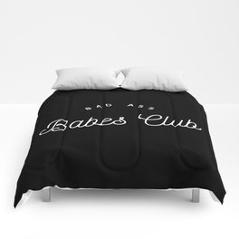 BAD ASS BABES CLUB B&W Comforters