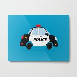 Cute Police Car Metal Print