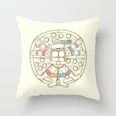 Vitruvian Turtle Throw Pillow