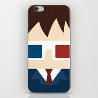 david tennant iPhone & iPod Skins featuring David Tennant, 10th doctor by heartfeltdesigns by Telahmarie