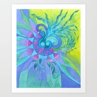 Dreamcatcher Eye Art Print