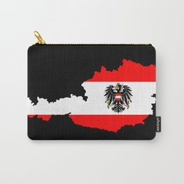 Austrian Flag and Map Carry-All Pouch