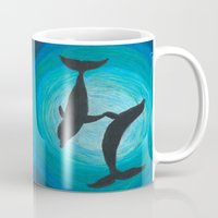 dolphins Mugs featuring Dolphins by MandiMccl