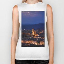 Panorama of Duomo Santa Maria Del Fiore, tower of Palazzo Vecchio. Biker Tank