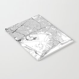 Queens White Map Notebook