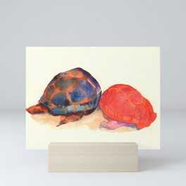 A couple of turtles Mini Art Print
