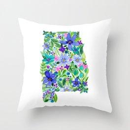 Sweet Home Alabama- Painted States Series Throw Pillow