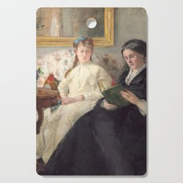 The Mother and Sister of the Artist - Marie-Joséphine & Edma by Berthe Morisot Cutting Board