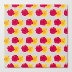 Hibiscus pattern_YRA Canvas Print