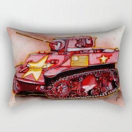 Red Tank Rectangular Pillow