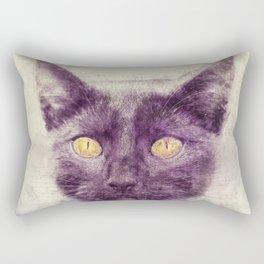 Black kitty art Rectangular Pillow