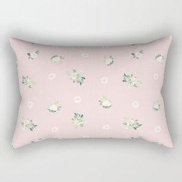 pink florals Rectangular Pillow